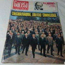 Coleccionismo de Revistas y Periódicos: REVISTA GACETA ILUSTRADA, 1968, N°622 / CHECOSLOVAQUIA. Lote 136183673