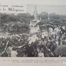 Coleccionismo de Revistas y Periódicos: SAN PEDRO DE NOS LA CORUÑA FIESTAS CENTENARIAS DE LA MILAGROSA / EIBAR HOJA REVISTA AÑO 1930. Lote 136205166
