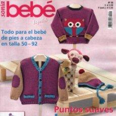 Coleccionismo de Revistas y Periódicos: SONIA BEBE ESPECIAL N. 25 - TODO PARA EL BEBE EN TALLA 50-92 (NUEVA). Lote 136240554