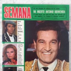 Coleccionismo de Revistas y Periódicos: SEMANA - 1975 - ANTONIO BIENVENIDA, ROCIO JURADO, RAPHAEL, MANOLO OTERO, R. DURCAL, MIGUEL BOSE. Lote 76462695