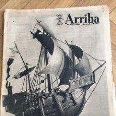 Coleccionismo de Revistas y Periódicos: ARRIBA (12-10-57) DIA DE HISPANIDAD FRANCO NOU CAMP WALT DISNEY SALVADOR DALI HOMENAJE COLON SEGOVIA. Lote 136320186