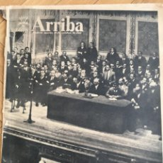 Coleccionismo de Revistas y Periódicos: ARRIBA (29-10-57) ANIVERSARIO FALANGE LIBANO VALENCIA ASTURIAS . Lote 136330586