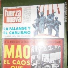 Coleccionismo de Revistas y Periódicos: REVISTA FUERZA NUEVA Nº 96 AÑO 1968 INMIGRACIÓN Y SEPARATISMO ..LA RECEPCIÓN DE EMIGRANTES HA SUPUES. Lote 136346878