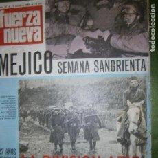 Coleccionismo de Revistas y Periódicos: REVISTA FUERZA NUEVA Nº 92 AÑO 1968 (UN DOCUMENTO REVELADOR..LAS INCOGNITAS DEL DIARIO DEL .CHE.-. Lote 136353374
