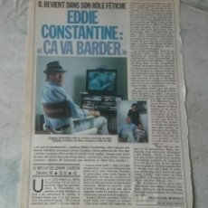 Coleccionismo de Revistas y Periódicos: EDDIE CONSTANTINE: CA VA BARDER (TELE 7 JOURS 1989). Lote 136528634