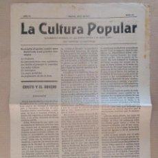 Coleccionismo de Revistas y Periódicos: LA CULTURA POPULAR SUPLEMENTO DE LA BUENA PRENSA MADRID 1911 Nº 33 RELIGION. Lote 136551462