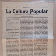 Coleccionismo de Revistas y Periódicos: LA CULTURA POPULAR SUPLEMENTO DE LA BUENA PRENSA MADRID 1912 Nº 44 RELIGION. Lote 136551706