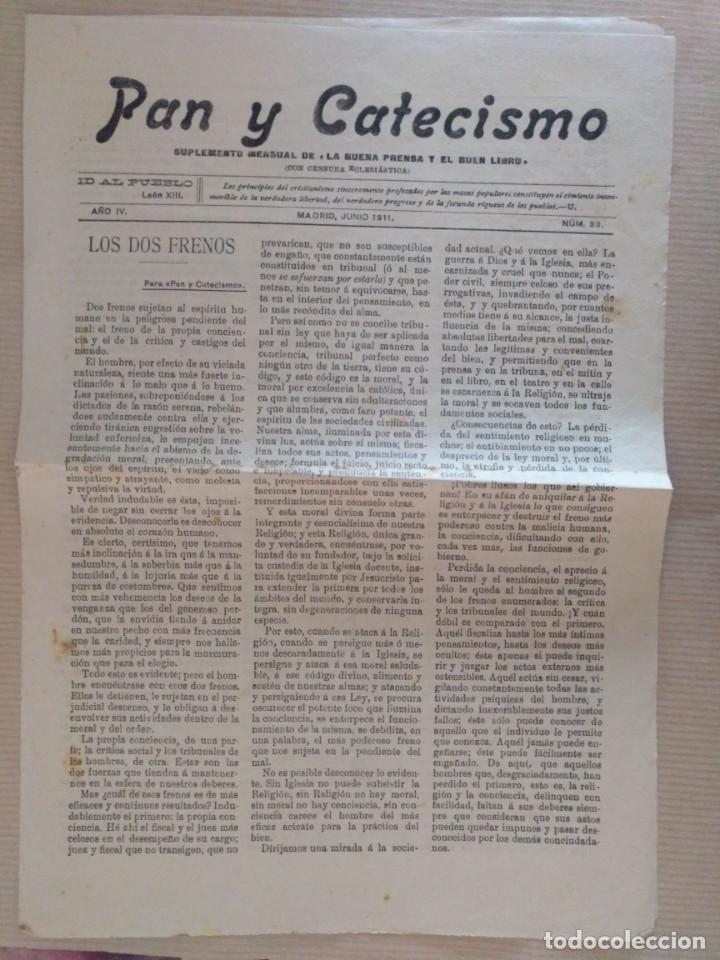 PAN Y CATECISMO SUPLEMENTO DE LA BUENA PRENSA MADRID 1911 Nº 33 RELIGION (Coleccionismo - Revistas y Periódicos Antiguos (hasta 1.939))