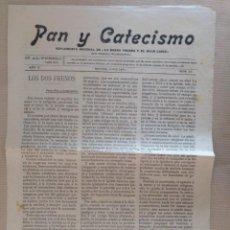 Coleccionismo de Revistas y Periódicos: PAN Y CATECISMO SUPLEMENTO DE LA BUENA PRENSA MADRID 1911 Nº 33 RELIGION. Lote 136551946