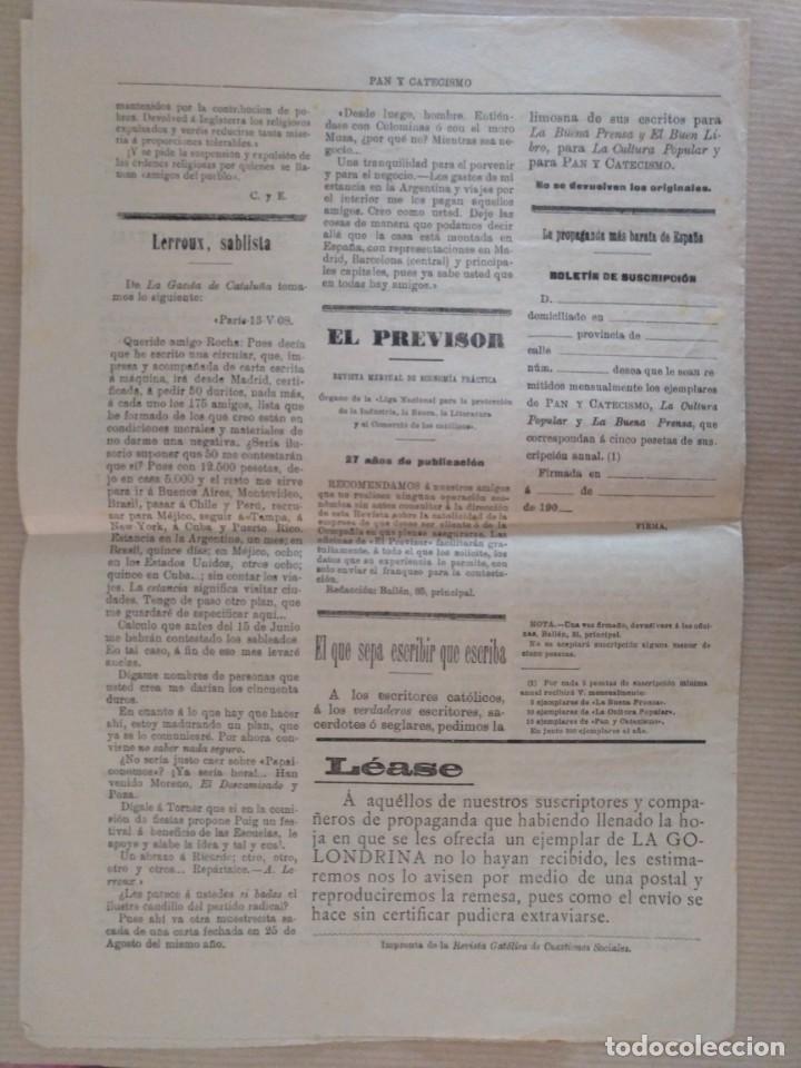 Coleccionismo de Revistas y Periódicos: PAN Y CATECISMO SUPLEMENTO DE LA BUENA PRENSA MADRID 1911 Nº 33 RELIGION - Foto 2 - 136551946