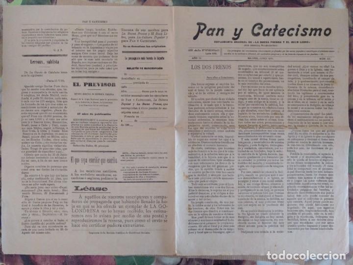 Coleccionismo de Revistas y Periódicos: PAN Y CATECISMO SUPLEMENTO DE LA BUENA PRENSA MADRID 1911 Nº 33 RELIGION - Foto 4 - 136551946