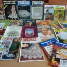 Coleccionismo de Revistas y Periódicos: LOTE REVISTAS MANOS DE HADA GRECAS TODO GANCHILLO MUESTRAS Y MOTIVOS. Lote 136574274