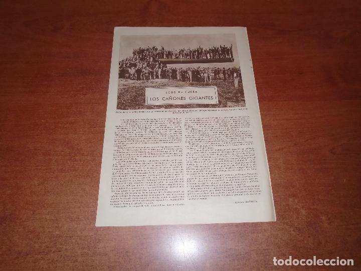 Usado, RETAL 1932: CAÑÓN GIGANTE EN ABERDEEN (MARYLAND). PUBLICIDAD POLVOS DE TALCO GAL segunda mano