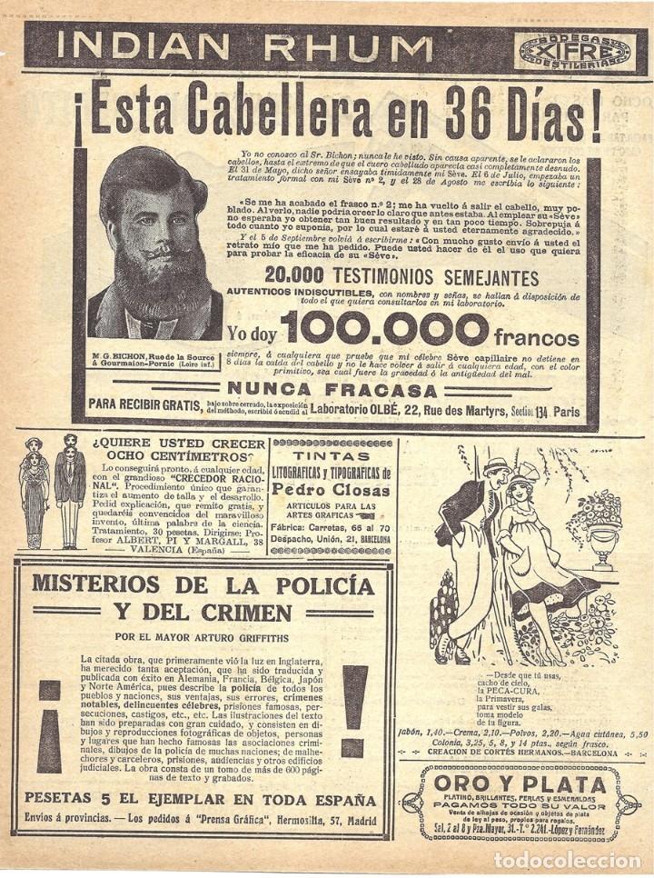 1918 hoja revista publicidad anuncio crecepelo - Comprar Revistas y ...