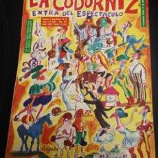 Coleccionismo de Revistas y Periódicos: LA CODORNIZ EXTRA DEL ESPECTACULO. 10 DE MAYO DE 1970. Nº 1486. Lote 136713372