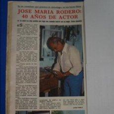 Coleccionismo de Revistas y Periódicos: RECORTE REPORTAJE CLIPPING DE JOSE MARIA RODERO REVISTA SEMANA Nº 2112 PAG 26. Lote 136785042