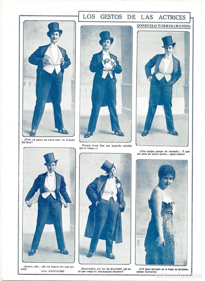 LOS VESTIDA TORRES MANON ACTRICES LAS HOJA FRAC ACTRIZ GESTOS 1915 CONSUELO DE REVISTA HOMBRE TEATRO wnS7H4HqTt