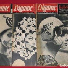 Coleccionismo de Revistas y Periódicos: LOTE 17 REVISTAS DIGAME AÑO 1965. Lote 136831222
