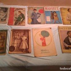Coleccionismo de Revistas y Periódicos: LOTE 9 REVISTAS MODA VARIADAS AÑOS 50. Lote 137013858