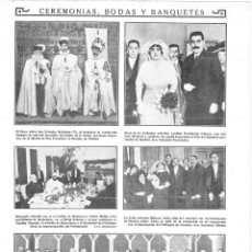 Coleccionismo de Revistas y Periódicos: 1915 HOJA MADRID BODAS AVELINA FERNÁNDEZ GÓMEZ LUIS MELGOSA AGUIRRE - BIBIANA AÑÓN ANASTASIO MARTÍN. Lote 137119650