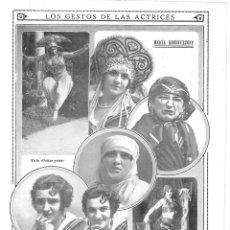 Coleccionismo de Revistas y Periódicos: 1915 HOJA REVISTA TEATRO LOS GESTOS DE LAS ACTRICES MARÍA KOUSNEZZOFF FOTOS CALVACHE. Lote 137120826