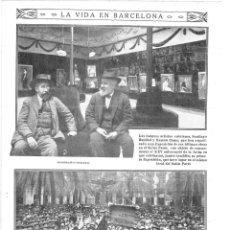 Coleccionismo de Revistas y Periódicos: 1915 HOJA REVISTA BARCELONA MANIFESTACIÓN EN HONOR MULEY HAFID POR REGALAR UN ELEFANTE A LA CIUDAD. Lote 137121522
