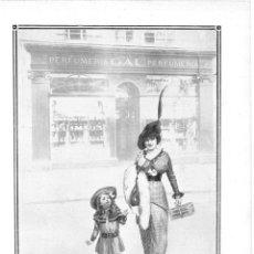 Coleccionismo de Revistas y Periódicos: 1915 HOJA REVISTA PUBLICIDAD ANUNCIO PERFUMERÍA CASA GAL JABÓN HENO DE PRAVIA. Lote 137121658