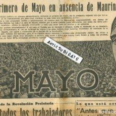 Coleccionismo de Revistas y Periódicos: PERIODICO MARXISTA LA BATALLA P.O.U.M. 1 DE MAYO DE 1937 ICONOGRAFIA REVOLUCION PROLETARIA MAURIN. Lote 137128086