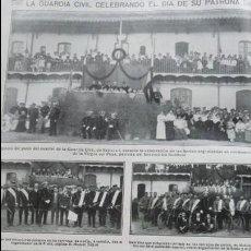 Coleccionismo de Revistas y Periódicos: LA GUARDIA CIVIL CELEBRANDO EL DIA DE SU PATRONA SABADELL LA VIRGEN DEL PILAR HOJA AÑO 1915. Lote 137128146