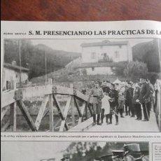 Coleccionismo de Revistas y Periódicos: ALFONSO XIII ZAPADORES MINADORES SAN SEBASTIAN ,VALLADOLID VISITA REY RIBADELLA 7 HOJAS AÑO 1915. Lote 137128426