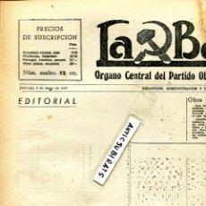 Coleccionismo de Revistas y Periódicos: PERIODICO MARXISTA LA BATALLA 1937 GUERRA CIVIL CENSUSA EN EL PERIODICO MEJICO ANDUJAR CARABANCHEL . Lote 137128562