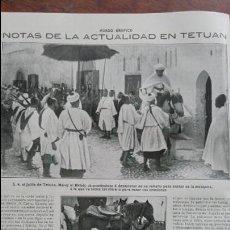 Coleccionismo de Revistas y Periódicos: TETUAN EL JALIFA MUNLEY EL MEHDI GENERAL JORDANA HOJA AÑO 1915. Lote 137129222
