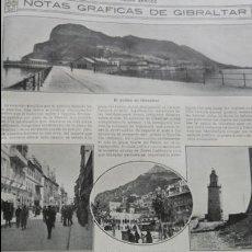 Coleccionismo de Revistas y Periódicos: GIBRALTAR EL PEÑON HOJA AÑO 1915. Lote 137129834