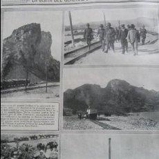Coleccionismo de Revistas y Periódicos: VISITA DEL GENERAL JORDANA A CEUTA .CANTERAS BENSUE FABRICA CERAMICA EN LOS CASTILLEJOS HOJA 1915. Lote 137130474