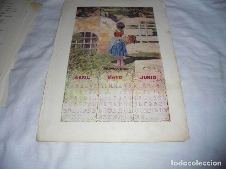 Calendario Dibujo Blanco Y Negro.El Golfillo Luis Gabaldon Dibujo Alberti Calendario Primavera Hoja De Revista Blanco Y Negro 1902