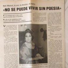 Coleccionismo de Revistas y Periódicos: RECORTE FAMILIA CRISTIANA Nº 10 1984 NATI MISTRAL. Lote 137400230