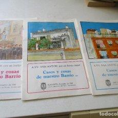 Coleccionismo de Revistas y Periódicos: CASOS Y COSAS DE NUESTRO BARRIO-A.VV. SAN ANTÓN -ALICANTE POR UN BARRIO MEJOR-3 REVISTAS-1986/87/88. Lote 137544826