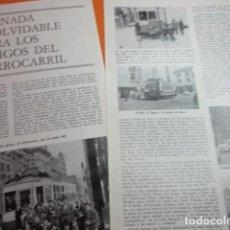 Coleccionismo de Revistas y Periódicos: ARTICULO 1971 - 14/03/1971 JORNADA DESPEDIDA TRANVIAS BARCELONA AMIGOS DEL FERROCARRIL 2 PAG. RENFE. Lote 137723370