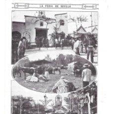Collezionismo di Riviste e Giornali: 1915 HOJA REVISTA FERIA DE SEVILLA CASETA BARRIO DE SAN BERNARDO PASARELA GANADO REAL. Lote 137800902
