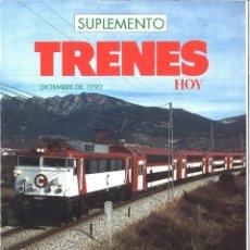 Coleccionismo de Revistas y Periódicos: TRENES HOY. SUPLEMENTO DICIEMBRE 1990. Lote 137858258