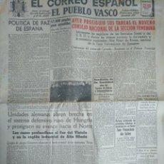 Coleccionismo de Revistas y Periódicos: EL CORREO ESPAÑOL, DIARIO DE FALANGE. BILBAO ENERO 1944 SEGUNDA GUERRA MUNDIAL. Lote 138113302