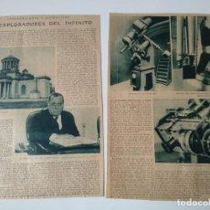Coleccionismo de Revistas y Periódicos: REPORTAJE PRENSA ORIGINAL AÑOS 30.EXPLORADORES DEL INFINITO, ASTRONOMIA. Lote 138565518