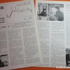 Coleccionismo de Revistas y Periódicos: ARTICULO 1972 - POR DONDE PASAN LOS AUTOBUSES DE BARCELONA LINEA 9 - 2 PAG. RENFE. Lote 138606158