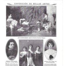 Coleccionismo de Revistas y Periódicos: 1915 HOJA REVISTA MADRID EXPOSICIÓN BELLAS ARTES CUADROS FRANCISCO DOMINGO PEDRO SAENZ FÉLIX MESTRES. Lote 138648150