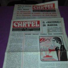 Coleccionismo de Revistas y Periódicos: CARTEL SEMANARIO DE ESPETACULOS N 1 -N 9 1971. Lote 138671166