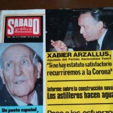 Coleccionismo de Revistas y Periódicos: SÁBADO GRAFICO 1977. Lote 138676296