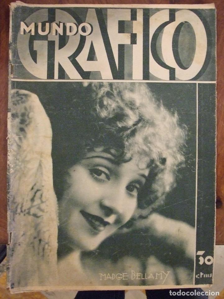 MUNDO GRAFICO 989 (15/10/31) DIRIGIBLE R-101 MADGE BELLAMY - BUEN ESTADO (Coleccionismo - Revistas y Periódicos Antiguos (hasta 1.939))