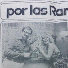 Coleccionismo de Revistas y Periódicos: CHICHO IBAÑEZ SERRADOR AURORA CLARAMUNT . Lote 138837106
