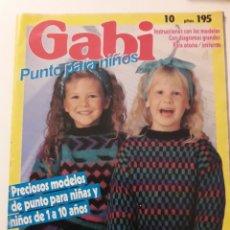 Coleccionismo de Revistas y Periódicos: REVISTA LABORES NIÑOS GABY JERSEYS PUNTO. Lote 138870250
