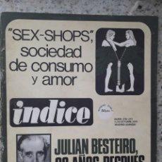 Coleccionismo de Revistas y Periódicos: INDICE 276 OCTUBRE 1970.HOMENAJE MUNDIAL AL CHE GUEVARA.ALFONSO SASTRE.EUGENIA SERRANO.MARIA MULET. Lote 138871082